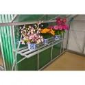 Police do skleníku závěsná, 128x35x30cm