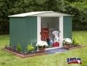 zahradní domek ARROW DRESDEN 106 zelený + PRODLOUŽENÁ ZÁRUKA 120 MĚSÍCŮ