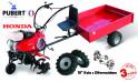 PUBERT SET7 kultivátor s vozíkem QJN H