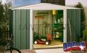 zahradní domek ARROW DRESDEN 1010 zelený + PRODLOUŽENÁ ZÁRUKA 120 MĚSÍCŮ