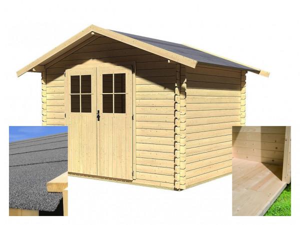 Dřevěný domek KARIBU SEEFELD 5 (14523) SET