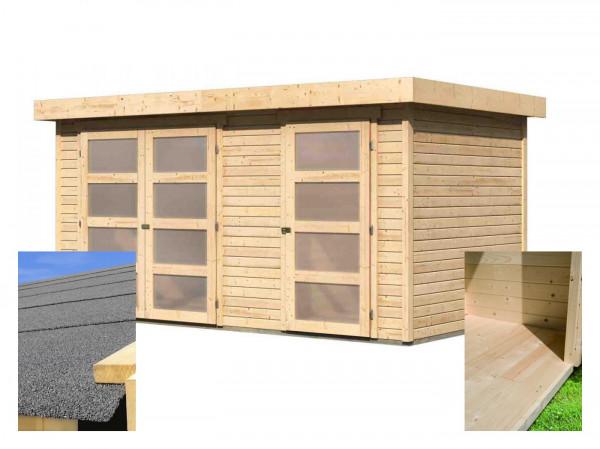 Dřevěný domek KARIBU MÜHLENTRUP (14522) SET