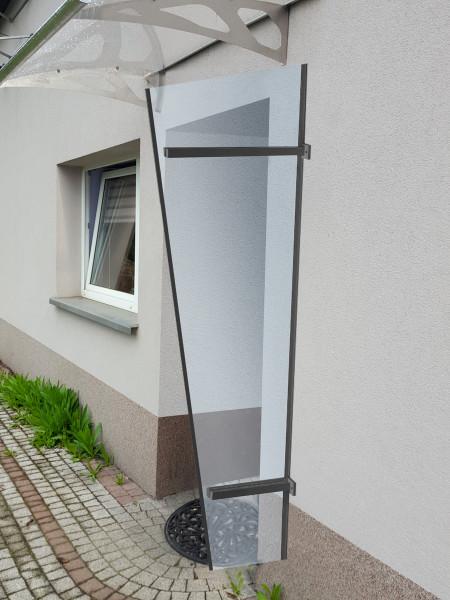 LanitPlast boční stěna LANITPLAST UNI antracit / PLEXI