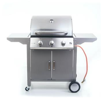 Plynový gril G21 Oklahoma, BBQ Premium Line 3 hořáky+ REDUKČNÍ VENTIL A PŘIPOJOVACÍ SADA
