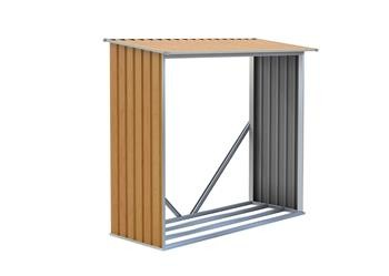 Přístřešek na dřevo G21 WOH 136 - 182 x 75 cm, hnědý