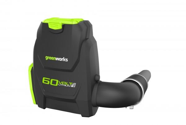 Greenworks GD60BLB aku 60 V zádový foukač s indukčním motorem