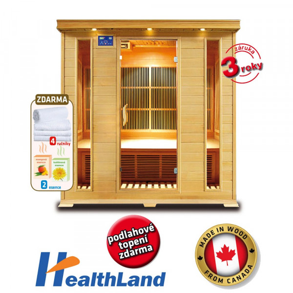 Healthland DeLuxe 4004 Carbon + PRODLOUŽENÁ ZÁRUKA 36 MĚSÍCŮ