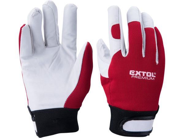 Extol Premium 8856655 rukavice kožené, velikost 8