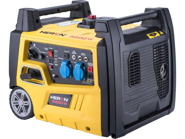 Heron 8896221 elektrocentrála digitální invertorová 5,4HP/3,2kW, elektrický start + PRODLOUŽENÁ ZÁRUKA 36 MĚSÍCŮ