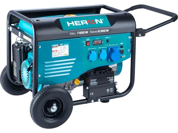 Heron 8896421 elektrocentrála benzínová 7,0kW/15HP, pro svařování, elektrický start, podvozek + PRODLOUŽENÁ ZÁRUKA 36 MĚSÍCŮ
